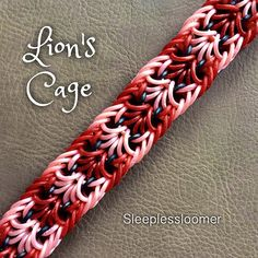 #ShareIG Lion's Cage Bracelet is a beautiful hook-only design by the brilliant @loomiemama with a fabulous tutorial done by @loves2loom. Long weekend holiday is over, and I'm back to regular looming! ❤️