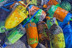 I love the glowing quality of her work -- Marian Dioguardi - Old Buoys