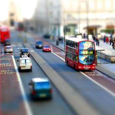 London Street Tilt Shitf #iPad #Wallpaper HD