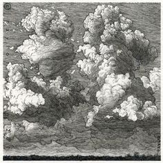 """Storm?"" 4 x 4 in, Pen and Ink, 2013 by Taylor Mazer"