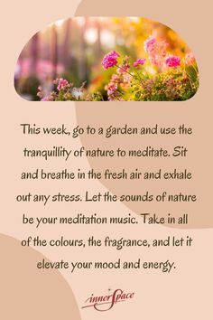 Let the sounds of nature elevate your mood Mind Gym, Covent Garden, Meditation Music, The Fresh, Fragrance, Stress, Mindfulness, Let It Be, Mood