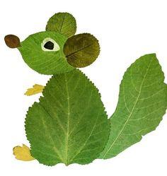 Leaf Crafts Kids, Summer Crafts For Kids, Preschool Crafts, Art For Kids, Autumn Leaves Craft, Autumn Crafts, Nature Crafts, Collage Nature, Leaf Animals