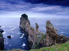 Coastal Rock Outcrops at Dun Balair, Tory Island, Ireland  // By Gareth McCormack