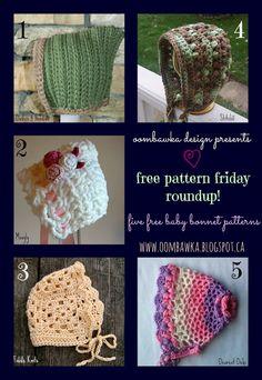 d8de8958db8 (3) Baby Bonnets Oombawka Design Crochet Hat Pattern Kids