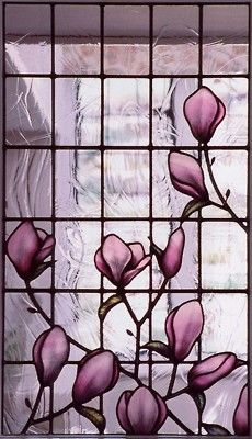 magnolia bud stained glass . #1  favorite! This is a finalist for my home.