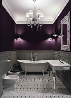 LOVE that deep purple! more for the bedroom though