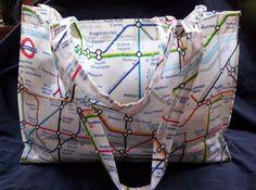 London Tube Underground Map Plastic Coated Fabric Eco-Friendly Tote Bag Sack   eBay
