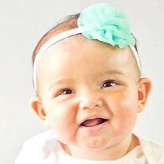 Aqua Teal Baby Vintage Headband
