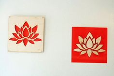 2 Plywood/Recycled Aluminum Lotus by mannmadedesigns on Etsy