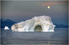Moonrise over iceberg by Sabry Mason on 500px