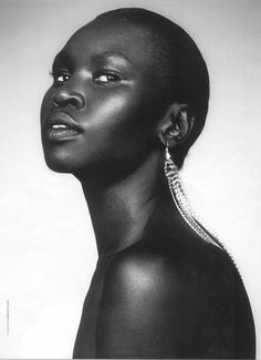 Alek Wek may not be the highest paid, or the most sought after fashion model, but she is certainly one of the more popular and one of the most recognized African models in the world. Although she was born in Southern Sudan, she was discovered in London in the mid 90's and has been featured in multiple publications and even popular music videos sense here discovery.