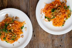 Carrot Noodle Pad Thai (not exactly CC friendly but easily modified). Trying this asap!