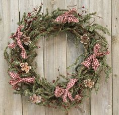 Chocolate Gingerbread Pine Wreath