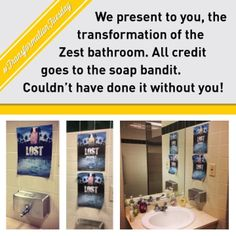 In honor of #TranformationTuesday, #Zest would like reminisce about the transformation of our #Suite203 bathroom. All credit goes to the soap bandit.  #Zesty