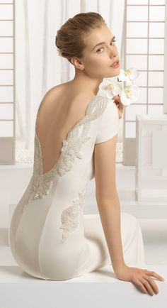 Unique back fitted wedding dress | Rosa Clara 2016 Bridal Collection via @BelleMagazine