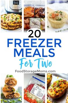 Simple Freezer Meals For Two People - Food Storage Moms - If you're an empty nester or just need smaller proportioned meals, you'll love this collection - Freezable Dinners, Budget Freezer Meals, Make Ahead Freezer Meals, Freezer Cooking, Budget Recipes, Frugal Meals, Food Storage, Strudel, Crockpot Recipes