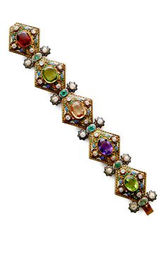 Antique Viennese Gold And Gemstone Bracelet by SIMON TEAKLE