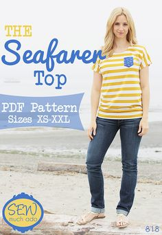 Seafarer Top PDF Pattern by Sew Much Ado