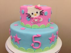 Super Cute Hello Kitty Birthday Cake Children birthday cakes