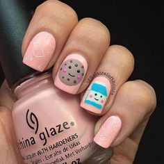 Pretty Clever Nail Designs and Colors – Fashion – Fancy Nails Cute Nail Art, Cute Acrylic Nails, Acrylic Nail Designs, Cute Nails, Pretty Nails, Little Girl Nails, Girls Nails, Girls Nail Designs, Pretty Nail Designs