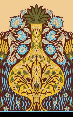 Pattern Art, Print Patterns, Vector Flowers, Simple Flowers, Border Design, Islamic Art, Indian Art, Wallpaper Backgrounds, Wallpapers