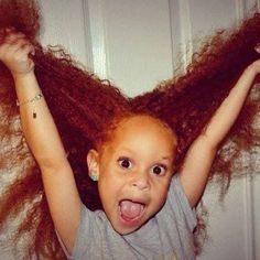 This image has circulated the web for many months now. This cute little girl has African American roots and vibrant, natural red hair!