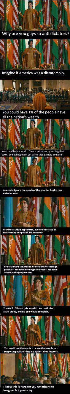 Imagine if America was a dictatorship.