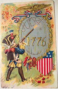 Vintage Postcard - 4Th of July, via Flickr.