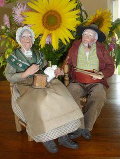 SANTONS-DE-PROVENCE-LISE-BERGER-THE-OLD-MAN-AND-WOMAN-SANTON