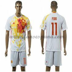 Camisetas De Futbol Barata España 2016 Pedro 11 Segunda Equipación