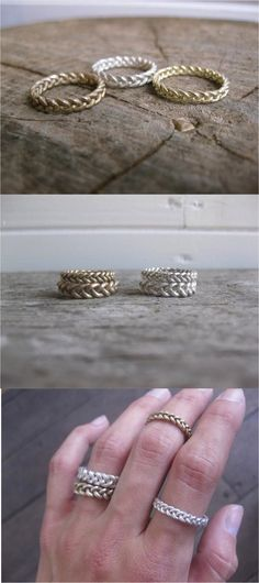 This braided ring is a great easy to wear, everyday ring.   Made on Hatch.co