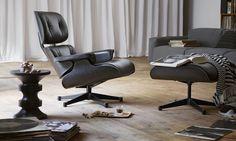 Lounge Chair + Ottoman Black - Vitra - Marcas   | DomésticoShop