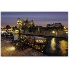 Trademark Fine Art Notre Dame de Paris in Colors Canvas Art by Mathieu Rivrin, Size: 22 x 32, Pink