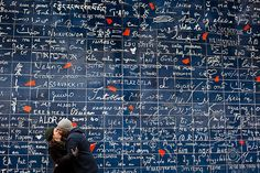"""The """"Wall of Love"""" at Montmartre - it says """"I love you"""" in 311 languages. How come I missed this?!"""