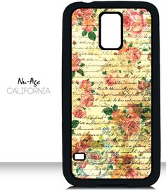 Vintage Floral Galaxy S5 Case Flower Pattern by NuAgeProducts, $13.23