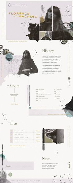 Beautiful layouts. Florence + the Machine Website - Andrew Czap #Diseño #Design #creative #Inspiration #layout #web #composición #Diseño  #brand #branding #website #online #WebDesign