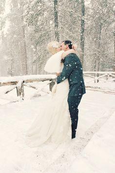 Snowy Winter Wedding by Jennifer Eileen