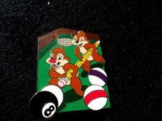 Disney Auctions P I N s Chip 'N Dale on Pool Table Playing Billiards Le Pin | eBay