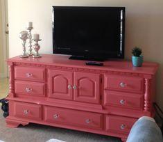 Becca's TV Stand from a dresser
