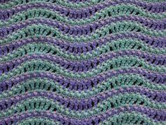 Wave Afghan en vert et violet couverture de par jenrothcrochet
