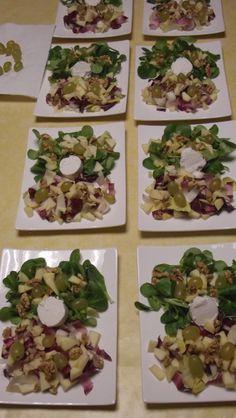 Table d'hôtes du 18/11/2017 : entrée : salade d'automne et ses gougères maison avec la cuvée Champagne Rosé brut #winelower #winegrower #champagneperronbeauvineau