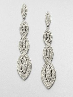 Indian style - Adriana Orsini Pavé Braided Drop Earrings - crystals on brass £85