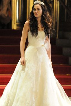 Blair on her wedding day, in Vera Wang of course.   - TownandCountryMag.com