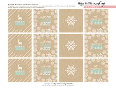 Adorable free Christmas printables. I would love to tie these on to everything in my gift baskets.