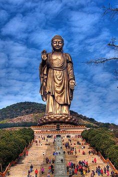 Buddha in Lingshan, Jiangsu, China