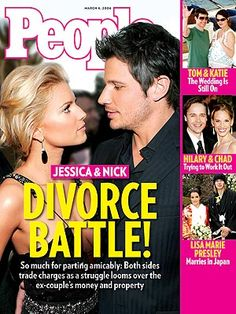 photo | Divorced, 2000, Jessica Simpson Cover, Nasty Breakups and Divorces, Nick Lachey Cover, Chad Lowe, Hilary Swank, Jessica Simpson, Ka...
