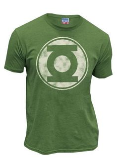 Green Lantern Distressed Logo Mens T-Shirt