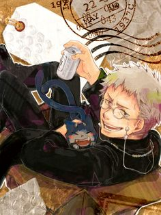 I know nothing about this, but I saw it and immediately recognized that this character is drinking Asahi