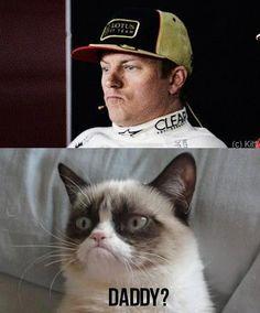 kimi raikkonen & grumpy cat