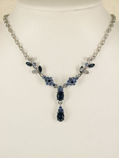 Gorgeous Navy blue necklace bracelet earrings set by AnhsJewelry-possibly a little chunkier than I'm looking for, but still pretty.